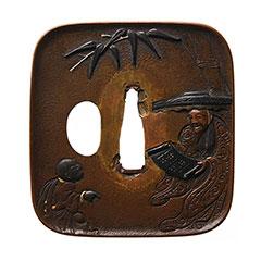 銘幸光 蘇束坡図鍔 特別保存刀装具