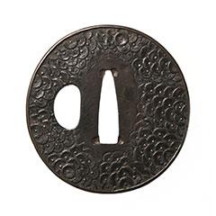 古金工 押合菊図鍔
